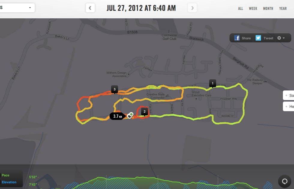 This mornings run