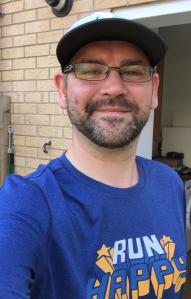 Good post run smile - as it says Run Happy