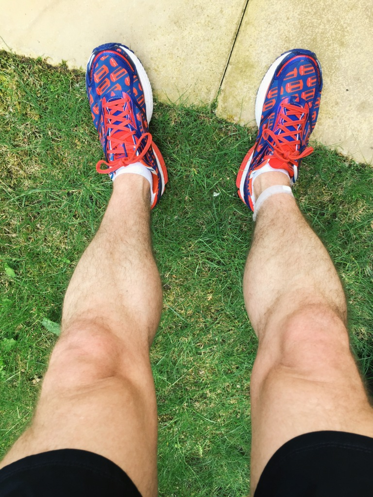 My legs after the run, before I cut the grass