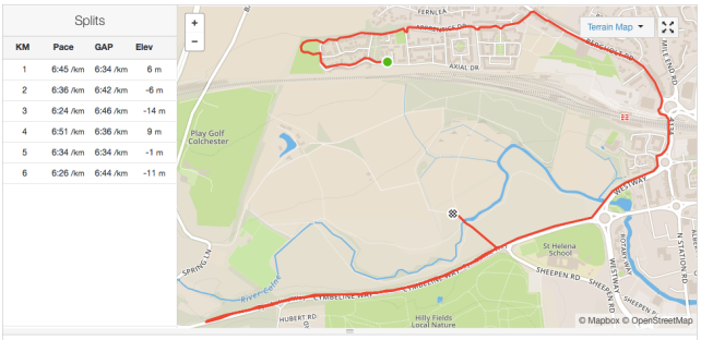 The 6K run section from today
