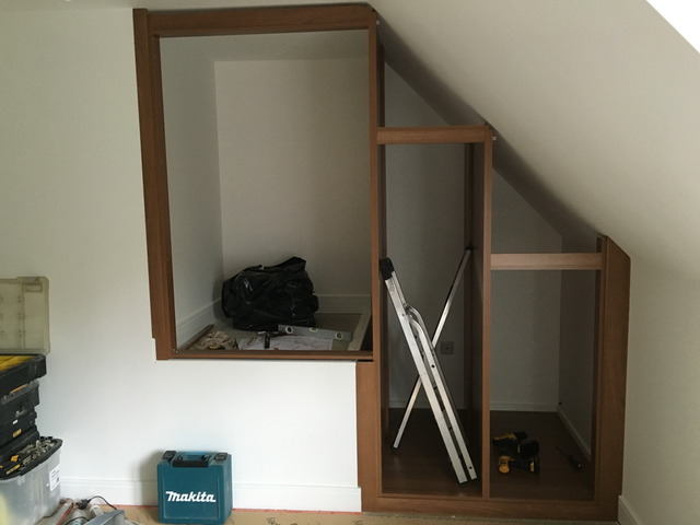 The build finally started this week - I can stand upright in the middle wardrobe!