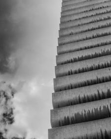 Balconies. Barbican Centre, London. Pentax Q.