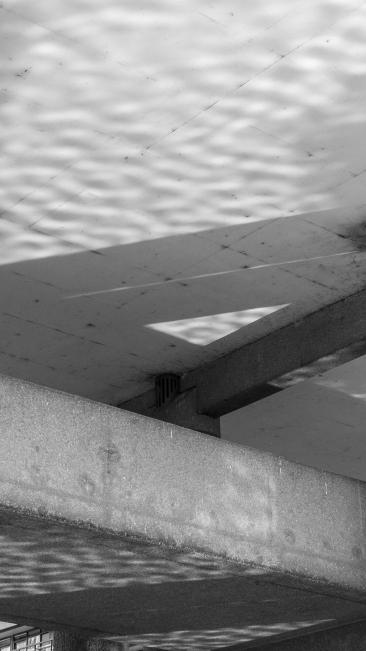 Reflections. Barbican Centre, London. Pentax Q.