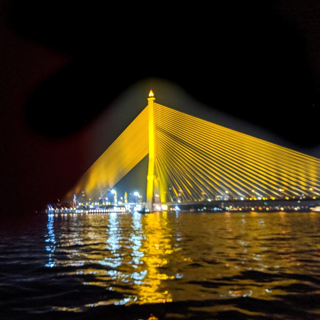 The newest bridge to span the Choa Phraya River