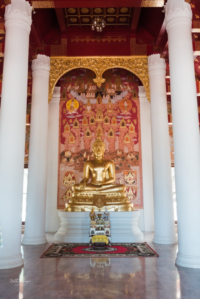 Interior of the new temple in the Ancient City of Sukothai