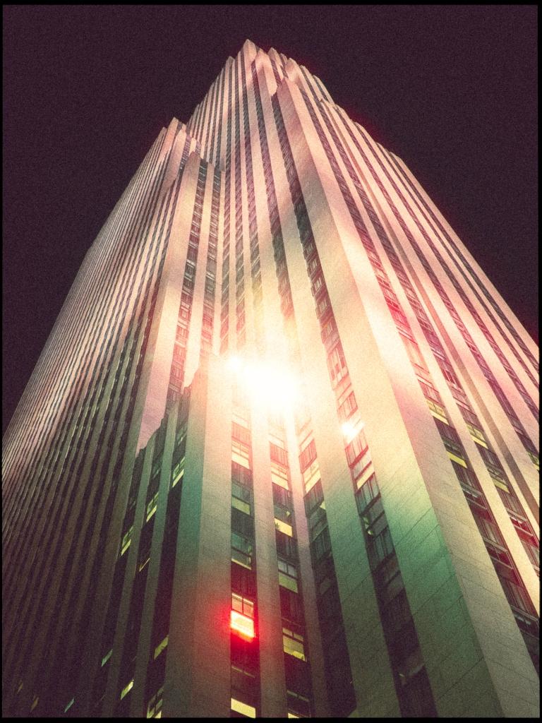 Rockefeller Center with fake Cinestill look