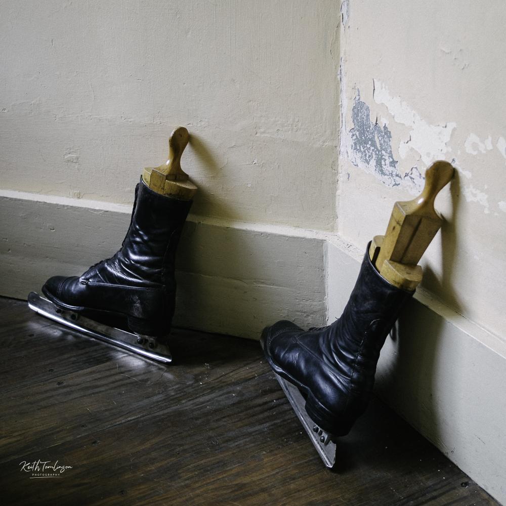 A photo of some Edwardian ice skates