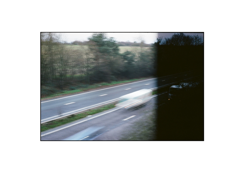 A photo of traffic travelling at speed