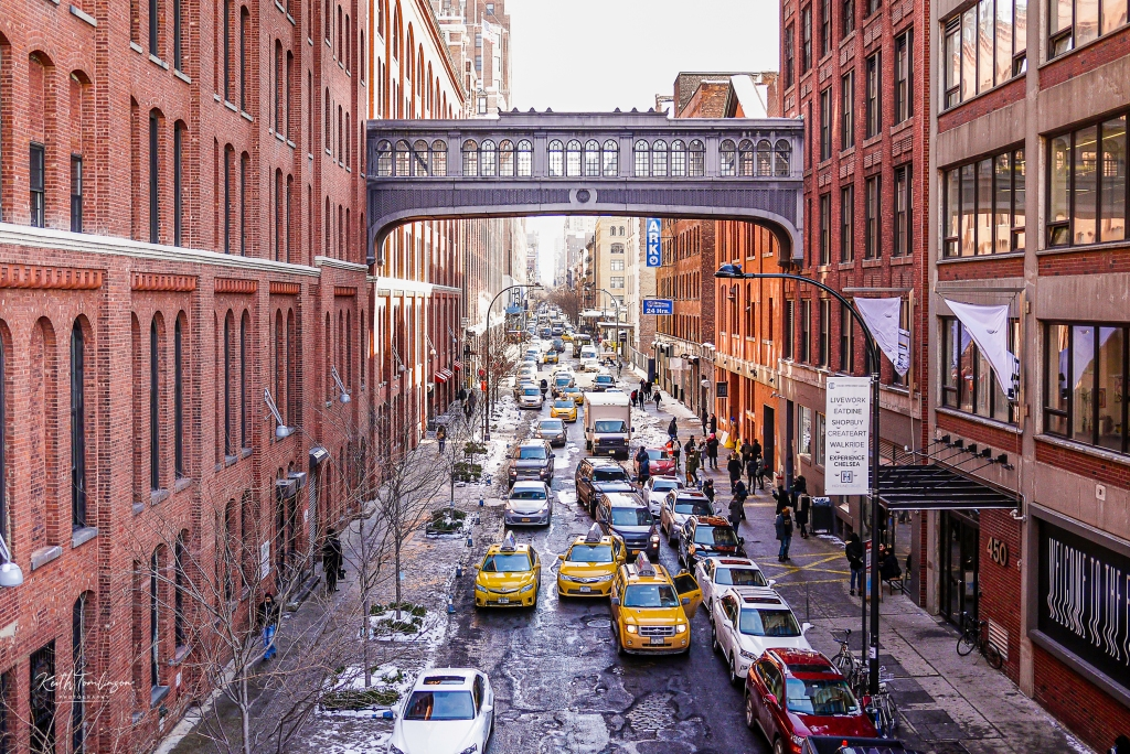A photo of downtown Manhattan from the High Line