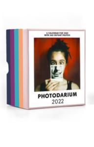 A photo of the box for the 2022 Photodarium desktop calendar
