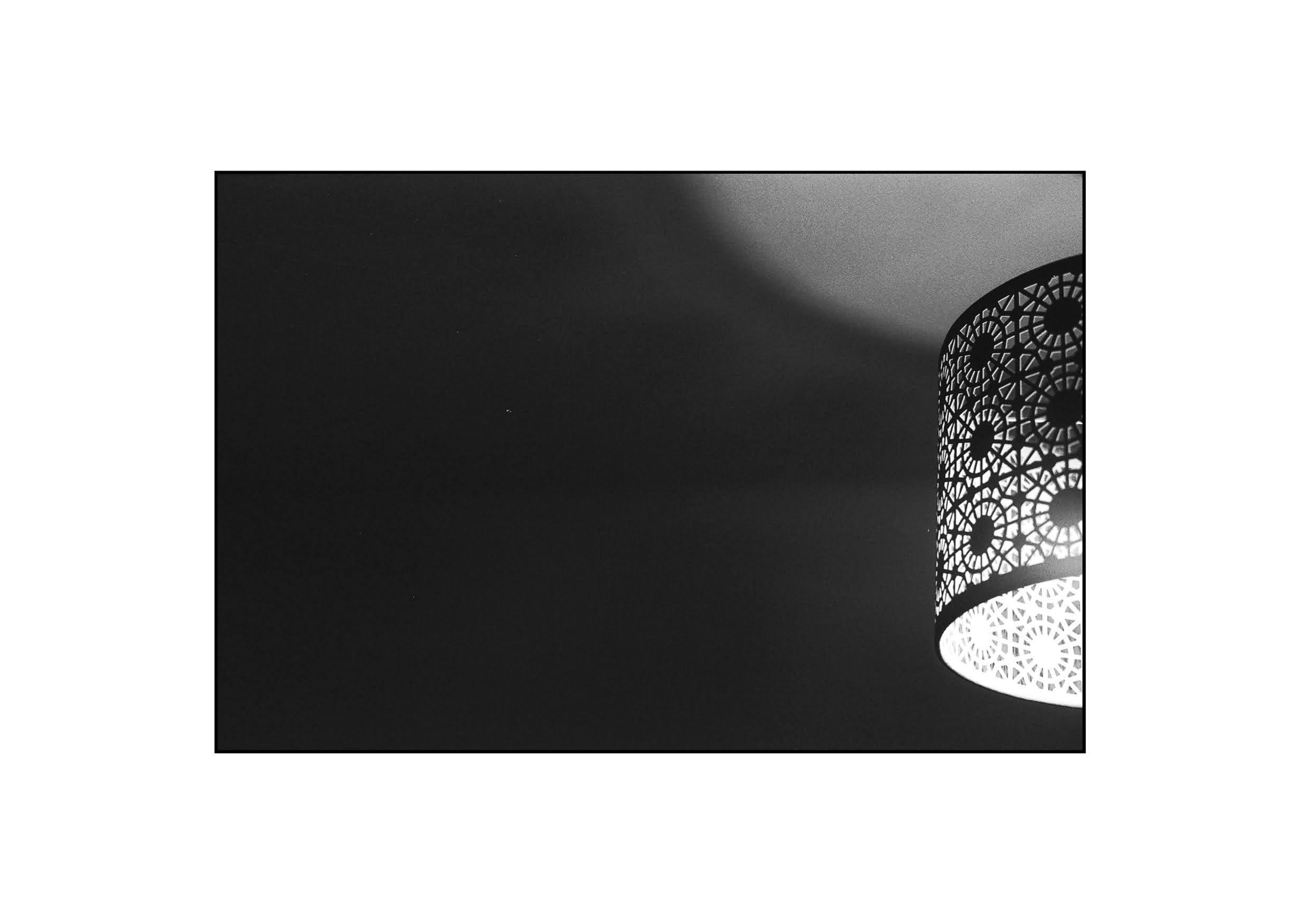 Lamplit in the dark